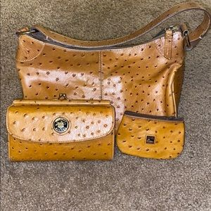 DOONEY & BOURKE ostrich 3 piece set